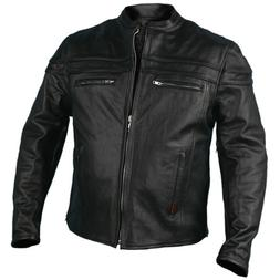 Hot Leathers JKM1011,BLK,L Men's Heavyweight Black Leather J