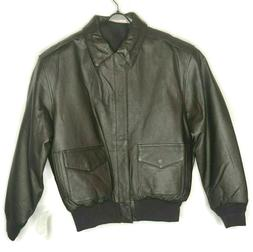 Air Force Landing Leathers A-2 Flight Bomber Jacket Size Med