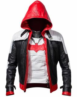 Batman Arkham Knight Game Red Hood Leather Jacket & Vest Cos