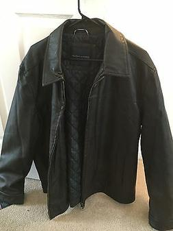 leather jacket new large read entire listing