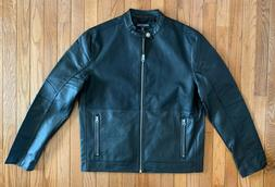 Kenneth Cole Reaction Black Moto Jacket, NwT! Men's Medium