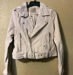 Blank NYC Women'sSuede Leather Moto Jacket - M