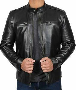 Blingsoul Black Leather Jacket for Men - Motorcycle Style Me