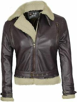 Blingsoul Womens Leather Jacket - Real Leather Winter Jacket