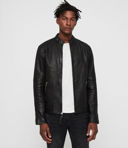 "BNWT £328 All Saints Cora Leather Jacket ""Large"" Worldwide"