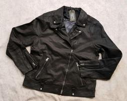 "BNWT All Saints ""XL"" L0MI Biker Leather Jacket For Men World"