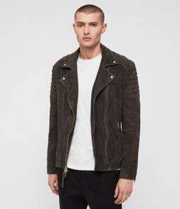 "BNWT Latest ALL SAINTS HASKETT ""M"" QUILTED SUEDE BIKER JACKE"