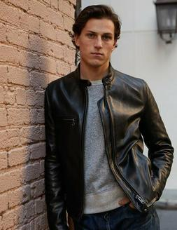 Schott NYC Cafe Moto Leather Jacket