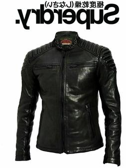 SUPERDRY CITY HERO RACER LEATHER JACKET / NEW / SIZE L
