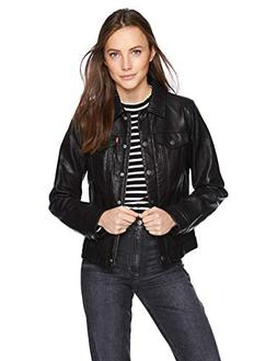 Levi's Women's Classic Faux Leather Trucker Jacket, Vintage