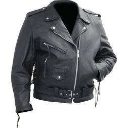 Rocky Mountain Hides™ Cowhide Leather Classic Motorcycle B