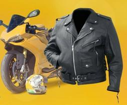 Rocky Mountain Hides Belted Cowhide Leather Motorcycle Jacke