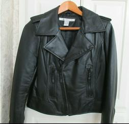 Rezrekshn Esther Chen 100% Genuine Leather Jacket Moto Coat