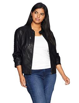 Levi's Size Women's Plus Faux Leather Fashion Quilted Racer
