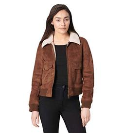 Levi's Women's Faux Leather Sherpa Aviator Bomber Jacket, Co