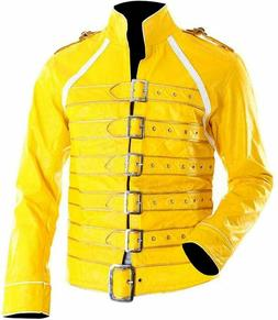 Freddie Mercury Yellow Concert Queen Wembley Faux Leather Ja