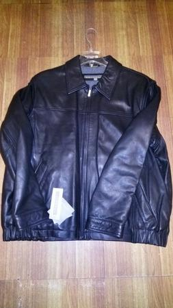 Kenneth Cole Reaction Genuine Leather Black Jacket size XXL