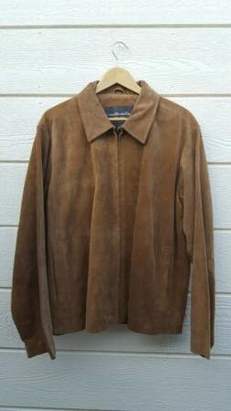 Eddie Bauer Genuine Leather Bomber Beige/light brown Men's J