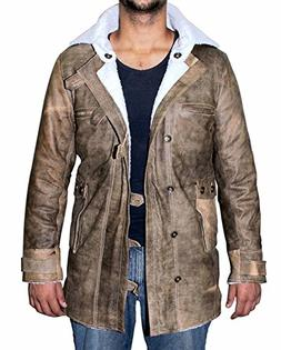 Genuine Swedish Mens Bomber Jacket - Shearling Leather Winte