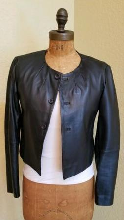 GORGEOUS WOMENS LIGHTWEIGHT TOMMY HILFIGER LEATHER JACKET SI