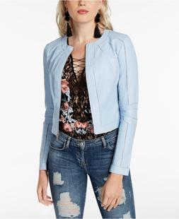 GUESS Ivonne Faux-Leather Moto Jacket MSRP $98 Size XS # 6A