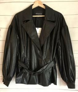 Who What Wear Jacket Women's Size L Faux Leather Jacket NWT