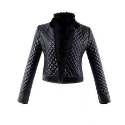 Jackets For Women Faux Leather Outwear Racing Style Coat