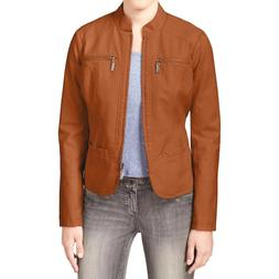 Jou Jou Faux-Leather Moto Jacket Size XL MSRP $69.50 # LB 72