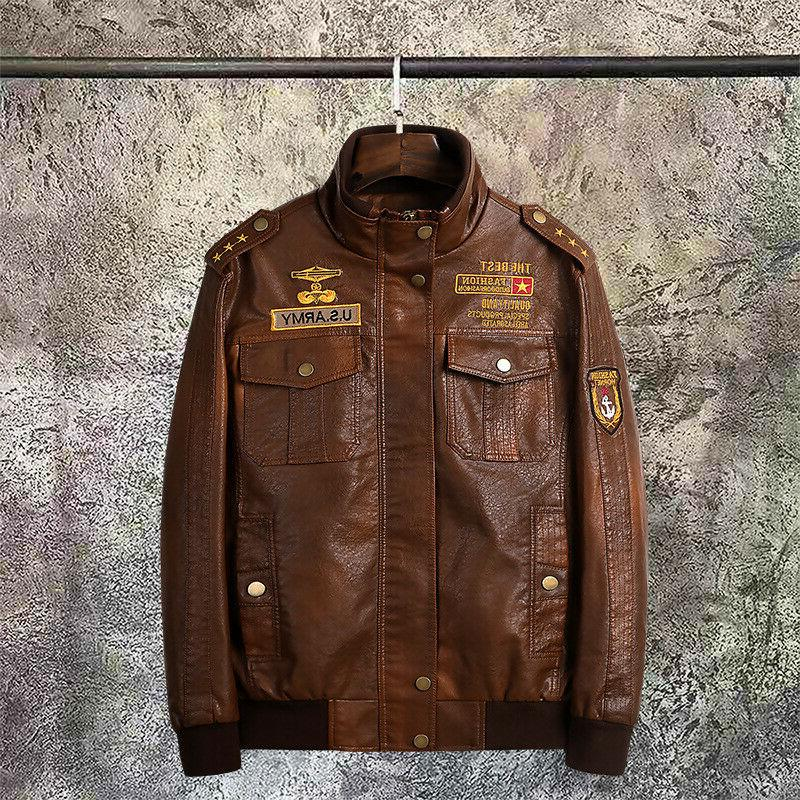 2019 Mens Motorcycle Leather Baseball Ride US