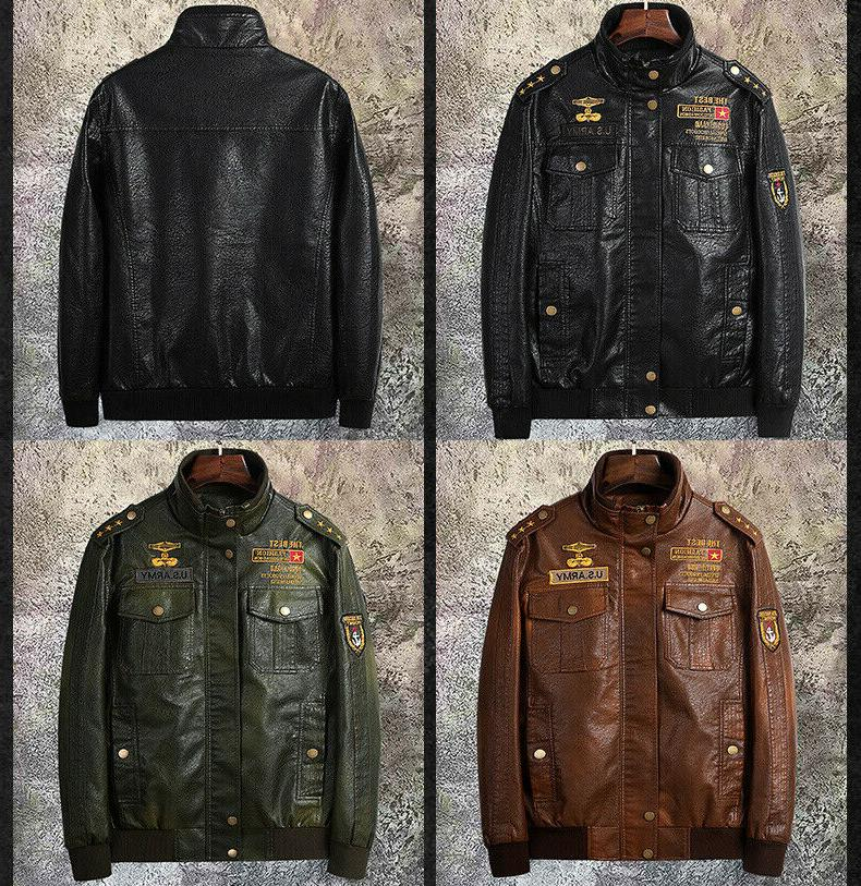 2019 mens outerwear motorcycle leather baseball ride