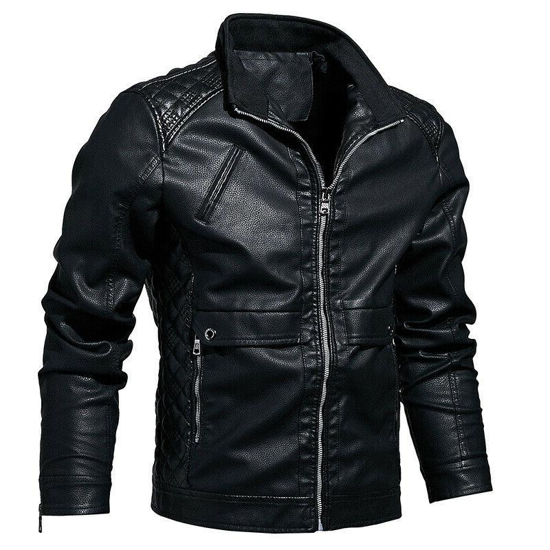 2019 new arrival mens outerwear motorcycle leather