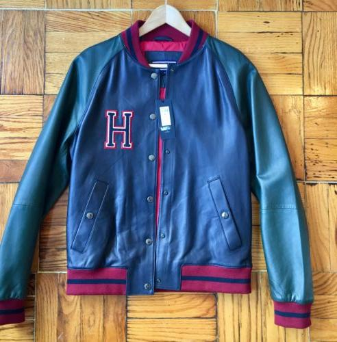 495 leather baseball varsity jacket size eu