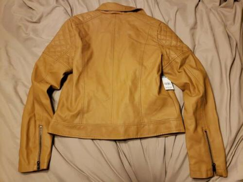Simply Styled Women's Faux Jacket Lined Caramel Size L