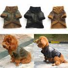 Waterproof Warm Winter Pet Dog Coat PU Leather Jacket Windpr