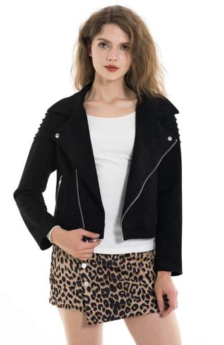 apperloth womens slim faux leather moto biker