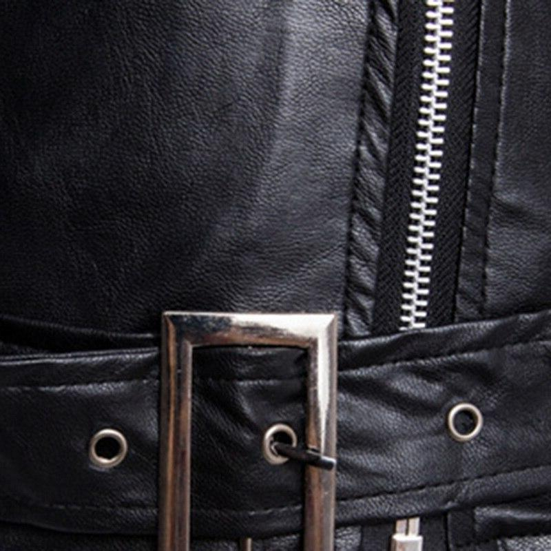 Motorcycle <font><b>Jackets</b></font> Fashion <font><b>Moto</b></font> Slash Zipper <font><b>Leather</b></font> Coat