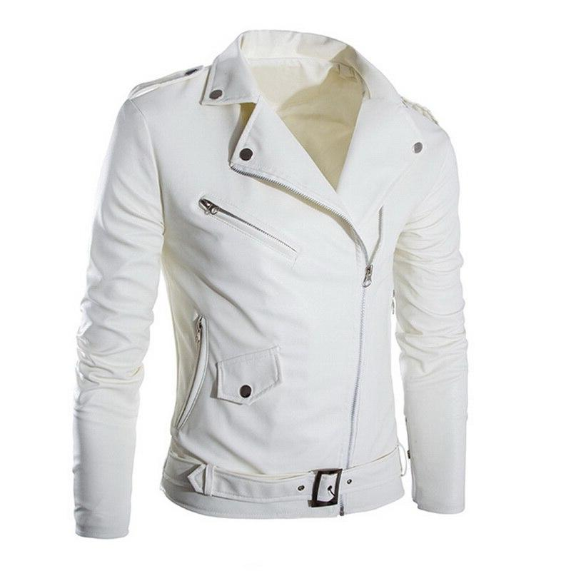 HEFLASHOR Motorcycle <font><b>Moto</b></font> <font><b>Jackets</b></font> Zipper Faux <font><b>Leather</b></font>