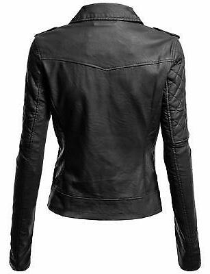 Awesome21 Women's Biker Faux Leather Jackets