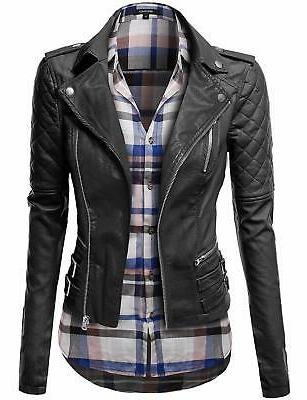 Awesome21 Women's Zipper Biker