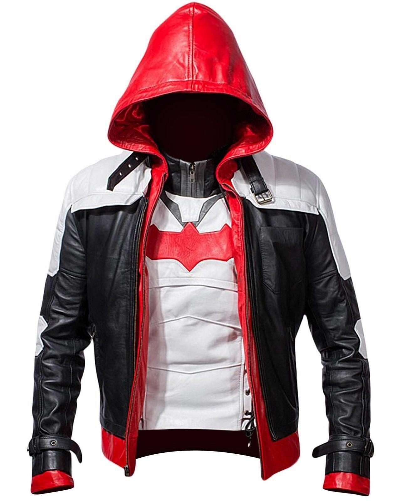 batman arkham knight game red hood leather