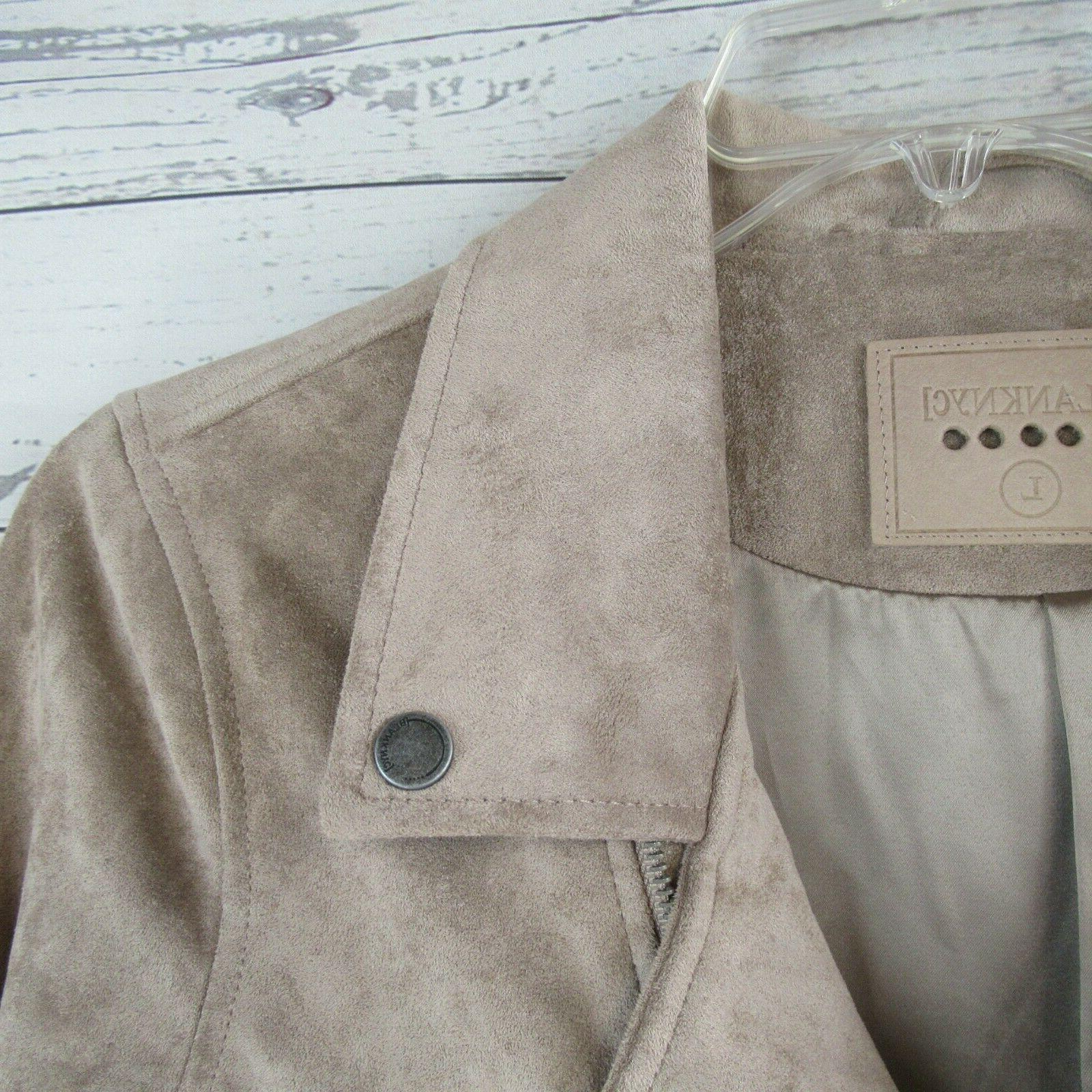 BLANK NYC Jacket Faux Leather Zip $108
