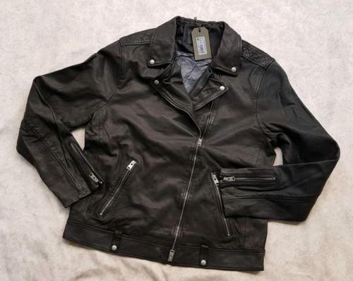 bnwt all saints xl l0mi biker leather