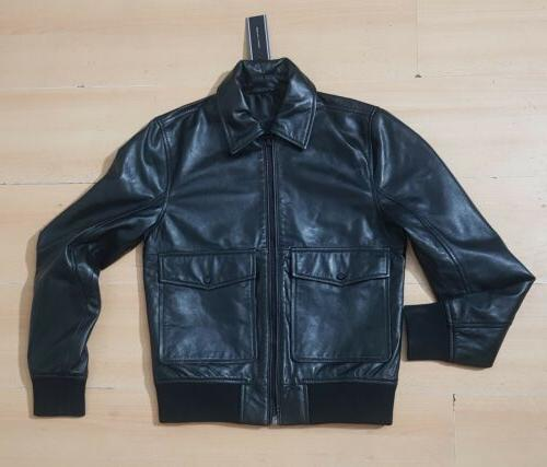 bnwt s lamb leather aviator jacket worldwide