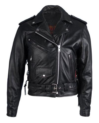 classic motorcycle jacket with zip out lining