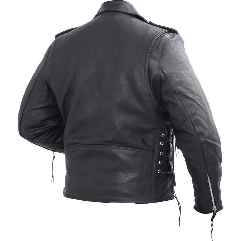 Rocky Hides Cowhide Leather Motorcycle Jacket Biker