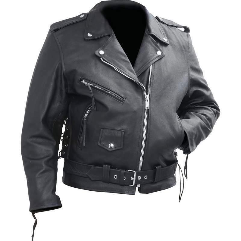 Rocky Cowhide Leather Motorcycle