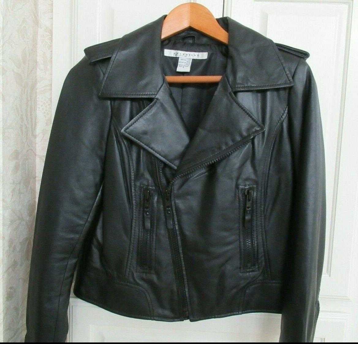 esther chen 100 percent genuine leather jacket