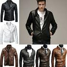 Fashion Men's Winter Slim Fit Leather Biker Punk Motorcycle