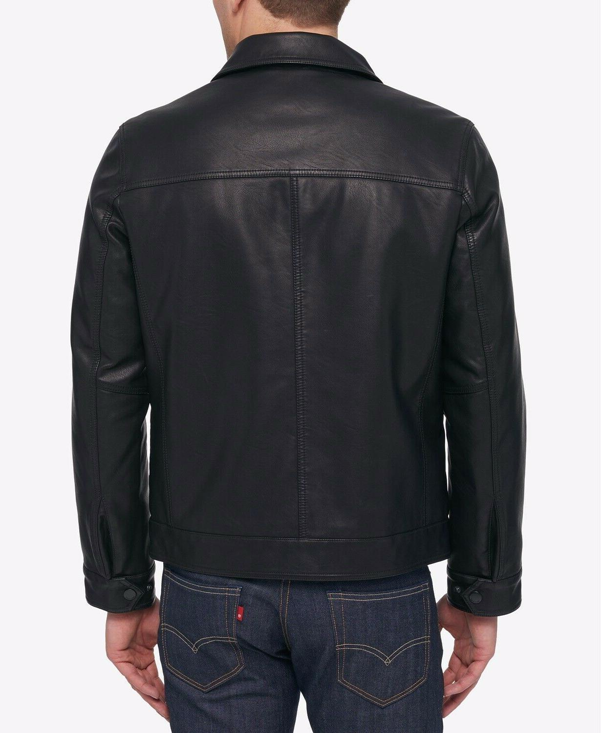 Tommy Faux Leather Bomber