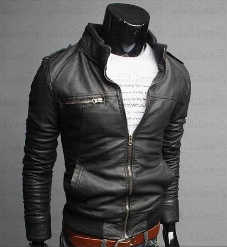 <font><b>Mens</b></font> <font><b>Jacket</b></font> High Motorcycle Bike Cowboy Male M-3XL